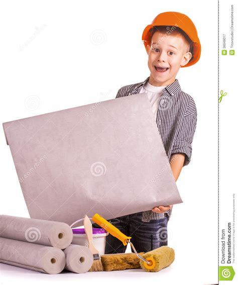 kid   rolls  wallpaper  brush isolated royalty