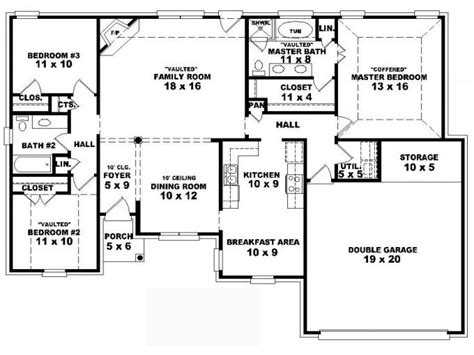 4 bedroom home plans 4 bedroom modular floor plans 4 bedroom one house