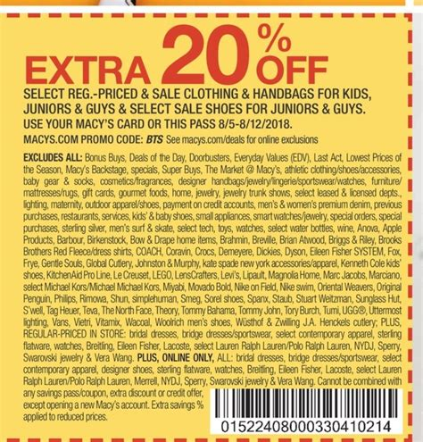 mommy saves big printable coupons department stores printable coupons in retail 23684 | macys coupon 20 bts