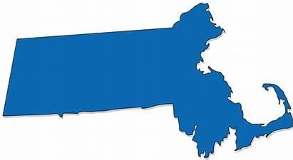 Massachusetts Outline Clipart State Debt Map Ma
