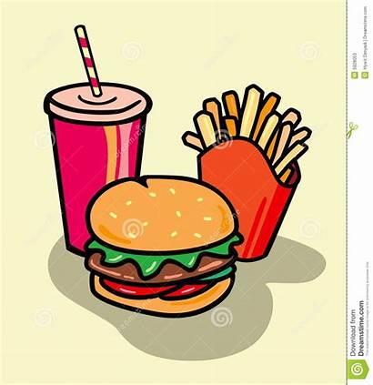 Fries Junk Clipart Clip Unhealthy Burger Healthy