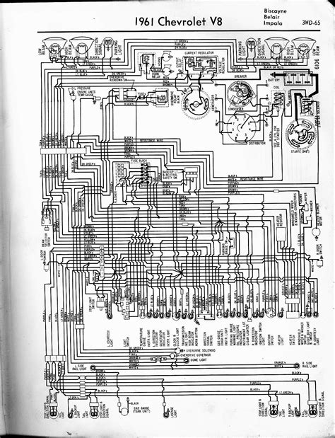 1958 Chevy Wiring Diagram Schematic by 57 65 Chevy Wiring Diagrams