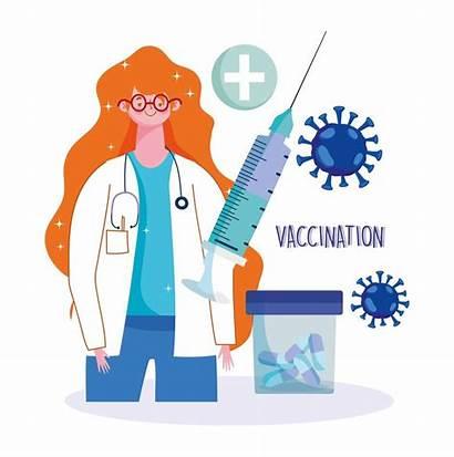 Vaccination Physician Pills Female Syringe Medical Medicine