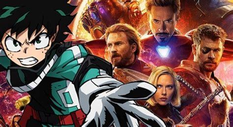 hero academiaavengers infinity war awesome collab