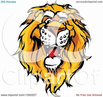 Lion African Mascot Clipart Head Illustration Friendly