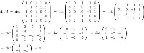 mathematik  lexikon determinantenberechnung und