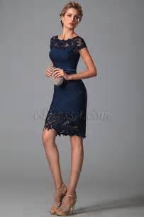 tenue de mariage femme invitã e edressit robe cocktail ville bleu nuit mancherons dentelle 26150105
