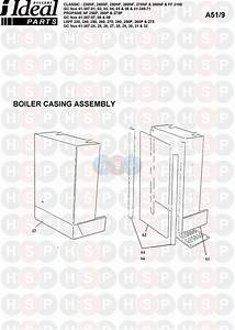 Ideal Classic Lxff 250  Boiler Casing  Diagram