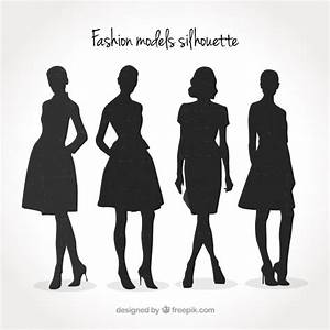 Fashion models silhouette pack Vector | Free Download