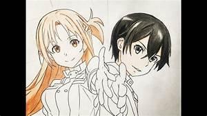How To Draw Kirito And Asuna  Sword Art Online  Ordinal