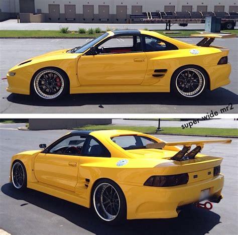 widebody toyota truck custom yellow widebody toyota mr2 turbo built motor