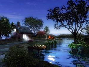 Beautiful Village at Night
