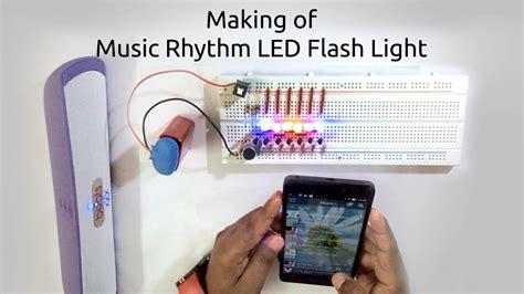 how to make lights flash to music how to make a music rhythm led flash light using