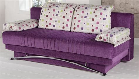 Purple Sofa Bed by Corbin Purple Sofa Bed By Sunset In Microfiber W