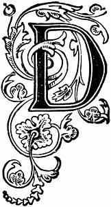 floral capital d clipart etc With decorative letter d