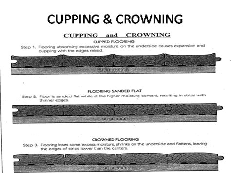 hardwood floor cupping and crowning floors