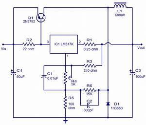 3a Switching Regulator Using Ic Lm317