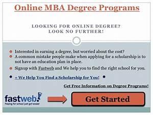 Online MBA Degree Programs