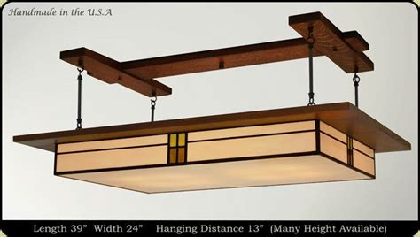prairie style light fixture for the home