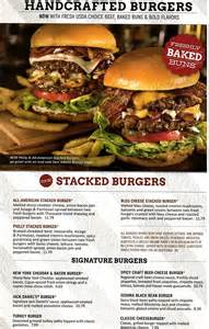 T.G.I. Friday's Dinner Menu with Prices
