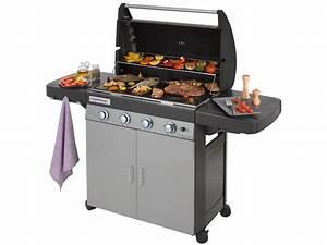 Barbecue Gaz Avec Plancha Et Grill : barbecue gaz class 4 l plus 82156 ~ Melissatoandfro.com Idées de Décoration