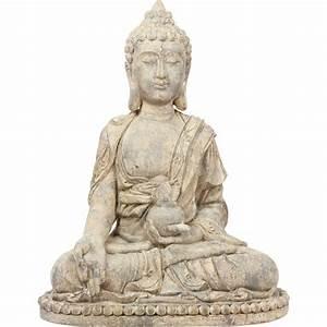 Statue De Bouddha : statue bouddha assis 65cm beige ~ Teatrodelosmanantiales.com Idées de Décoration