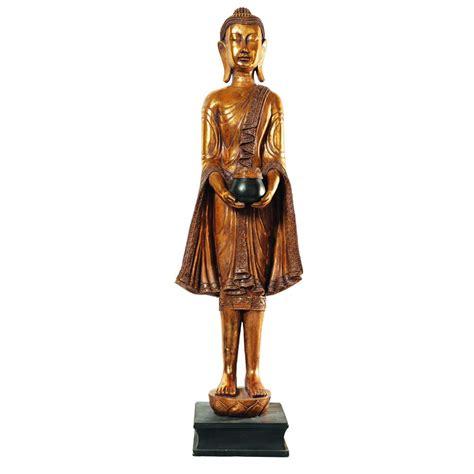 buste maison du monde statua di buddha in piedi in resina dorata h 142 cm maisons du monde
