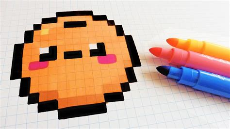 If you feel that the sprites simply won't fit in the canvas, that's absolutely normal, try abstracting something to a single. Handmade Pixel Art - How To Draw Kawaii Orange #pixelart ...