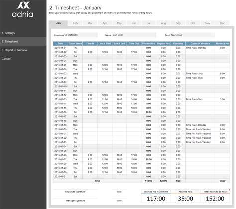timesheet management template excel timesheet template