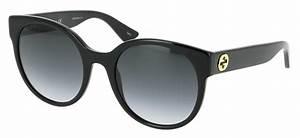 Lunette De Soleil Femme Solde : lunettes de soleil gucci gg 0035s 001 54 22 femme noir arrondie cercl e tendance 54mmx22mm 205 ~ Farleysfitness.com Idées de Décoration