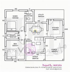 1000 Sq Ft House Plans 3 Bedroom Kerala Style - House Plan