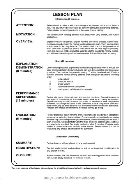 Excellent Sample Lesson Plan Format Pdf Free Daily Lesson