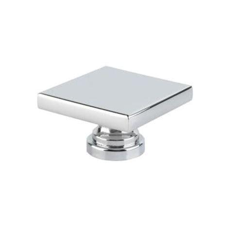 square chrome cabinet knobs topex italian designs collection 1 75 in chrome square