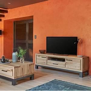 Grand Meuble Tv : grand meuble tv 2 portes forest en ch ne 100 massif ~ Teatrodelosmanantiales.com Idées de Décoration