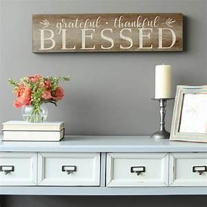 Stratton, Home, Decor, U0026quot, Grateful, Thankful, Blessed, U0026quot, Decorative, Sign, Wall, Art-s09608