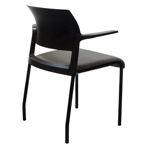 steelcase move used stacking chair black and gray
