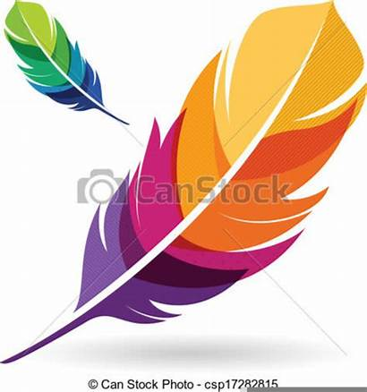 Feathers Clipart Feather Vector Colorful Indian Clip