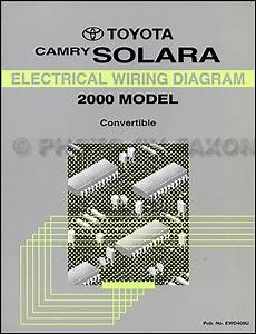 2000 Toyota Camry Solara Coupe Wiring Diagram Manual Original