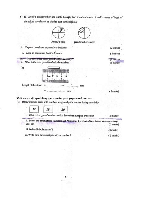 grade 6 maths papers sinhala medium pdf gce o l a ict git past papers paper notes