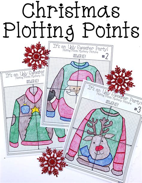 this ugly sweater party christmas plotting points picture worksheet would be t 8th grade math