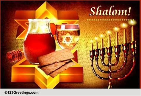 shalom  happy passover ecards greeting cards