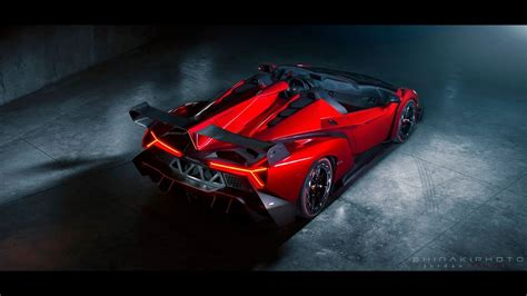 lamborghini veneno roadster engine start exhaust sound