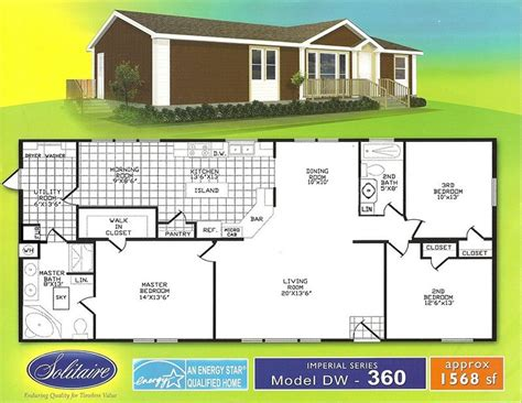 solitaire homes model  manufactured home  sale  denison
