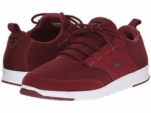 Lacoste - L.ight JRS (Dark Red/Dark Red) Women's Lace up ...