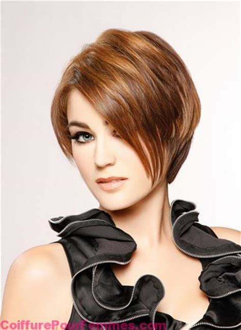 Coloration-brun-caramel-sur-cheveux-courts | Coiffure tendance femme 2017