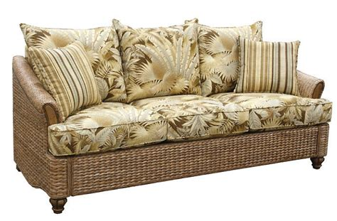 Wicker Sofa Sleeper by Plantation Indoor Wicker And Rattan Sleeper Sofa Ebay