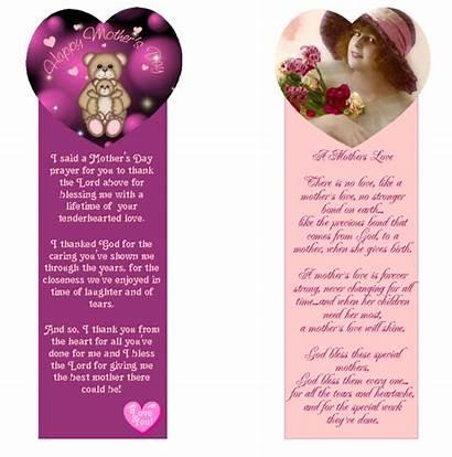 Mother Bookmarks Printable Bookmark Printablee Via Templates