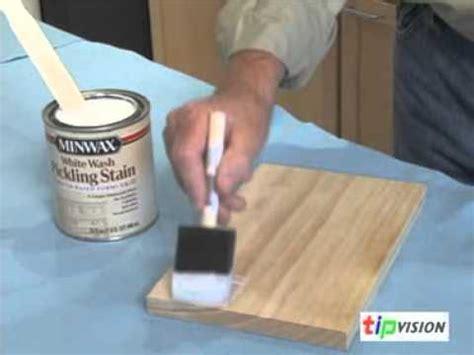 create  pickled finish  wood  minwax youtube