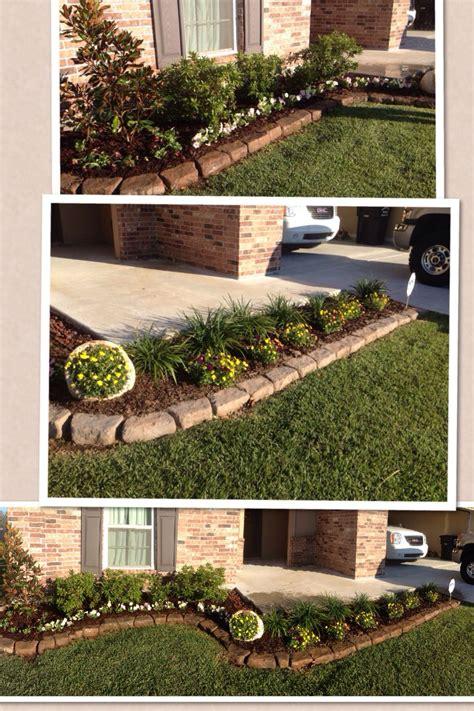 simple front flower bed design flower gardening