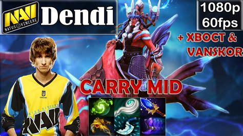 dendi na vi disruptor pro gameplay with xboct vanskor carry mid mmr dota 2 pro